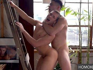 Cute Boys Performing Gymnastics and Bareback Anal Plumbing
