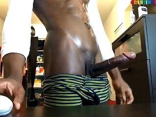 Tempting black big gun live on Cruisingcams.com