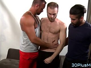 Muscly bears spitroast and sperm