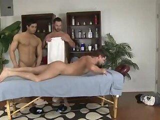 Three way massage Chris, Eric, Diego