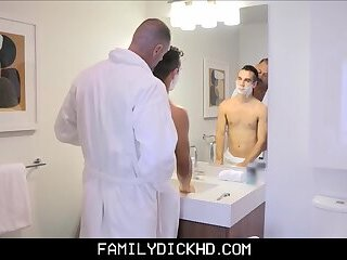 Young Blonde Twink Stepson Fucked By Stepdad While Helping Shave