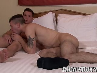 Scott Millie and Mike Hollister barebacking and blowing hard