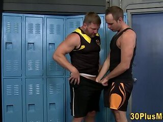 Muscly dudes pounded by bear