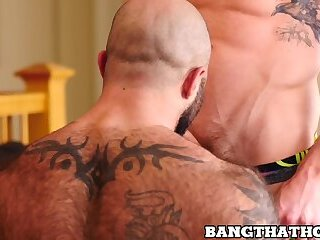Macho guys banging really wildly and sucking dick