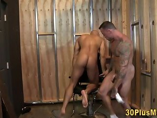 Gay studs butt eaten and fucked