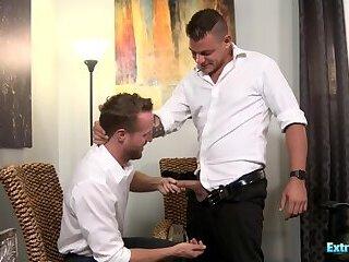 Horny Gay Dudes With Big Cock Enjoying Sex