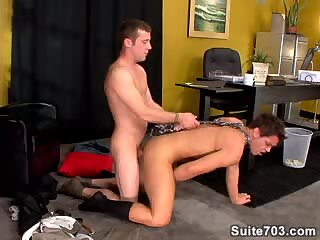 Guy Parker fucked in an office