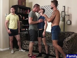 Twinks fucked by their stepfathers bareback in the ass