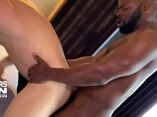 CUTLERSDEN CUTLER X  LOGAN STEVENS Big Black Uncut Cock Raw Fucks Blond Power Bottom in SO F