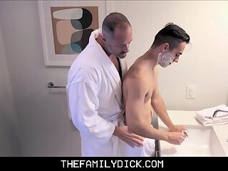 Young Twink Boy Stepson Family Fucked By Stepdad Wile Shaving