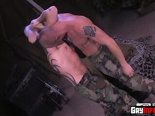 Military Officer hardcore fistfucks new recruits hole