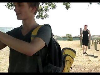 Fucking the twink outdoor