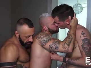 Jizz in mouth and ass (Flo Carrera, Riccardo, Nathan Hope)