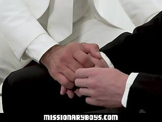 MormonBoyz - Religious Boy Gets Barebacked By Muscle Dad Priest