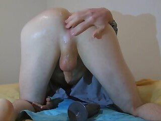 Young Ass Gaped and Leaking Cum