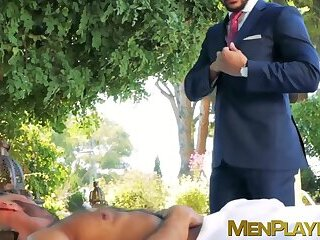 Executive impaled on massive cock and analrammed hardcore