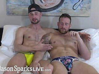JasonSparksLive -  Hung jock flip fucks bareback with beefy muscle stud