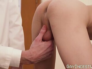Young man has dick in his ass as he bare bangs his stepdad