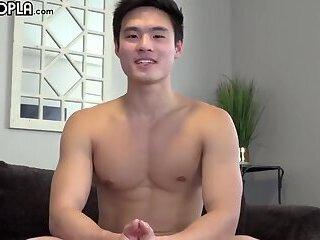 Handsome Asian Charlie Jerks off