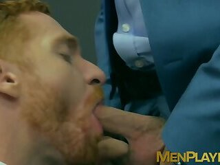 Suit and tie Welcum Leander and Shane Jackson analfucking