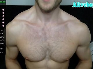 yummy body builder shows his perfect body