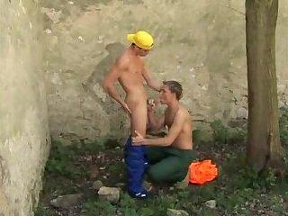 Twink Gays Oudoor Frigging