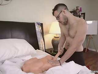 GAYWIRE - Angel Ventura Replaces Jacob Peterson's Sex Toy With His Cock