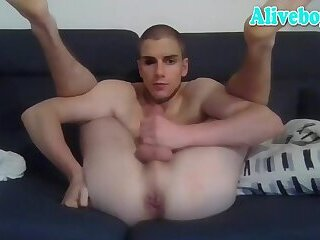 young boy self sucking on cam
