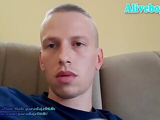 young boy tugging his big dick online