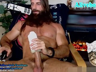 beard daddy fucked his fleshlight and cumming big loads
