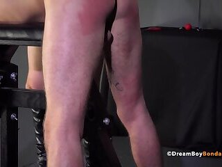 Tied Up Twink Fucked Hard & Creampied By Daddy With Monster Cock