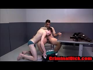 Teen Criminal Sucks cop cock