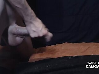 Boy jerking off and stroking his dick