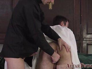 Rimmed altarboy gets bareback fucked