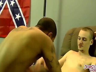 Horny dude forces his big dick on a black dude after rimming