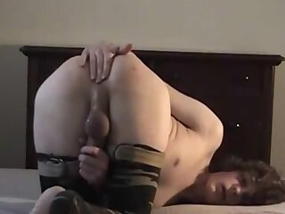 Me fucking a bottle and cumming