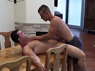 Hairy Gay Otter Teen Takes Big Straight Cock