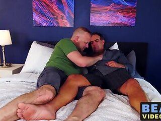 Passionate breeding session with chubby homosexuals