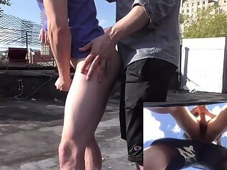 Sucking & Fucking on a NYC Rooftop