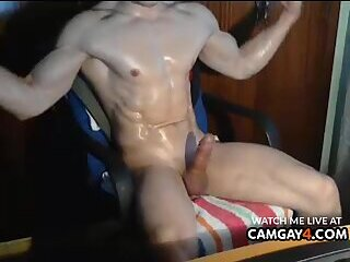 Man with hard cock in webcam