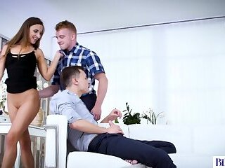 Bisex threesome scene with Amirah Adara, Jace Reed and Boris Lang