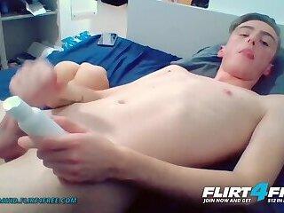 Alpha David on FlirtFree Blond Euro College Twink Cums