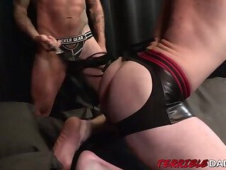 Brian Bonds tied up and banged bareback in BDSM encounter