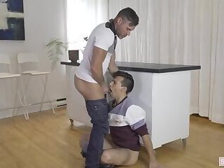 Daddy punishes his Son after suspended from school