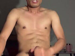 Asian boy massive cumshot