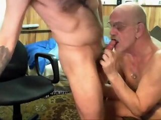 feeding grandpa cumshot