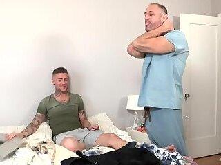Step dad fucks his lazy gay son