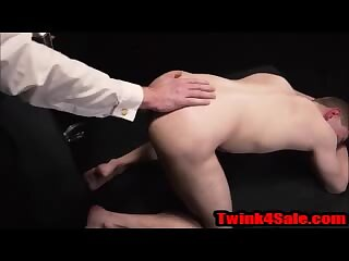 Teen Jock takes his first anal toy