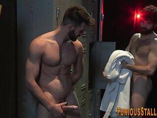 Gay man rides huge dong and gets cum