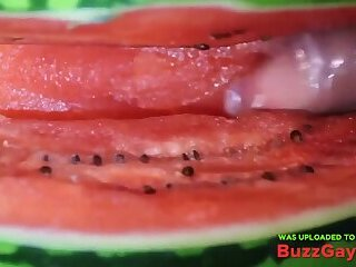 fruit fuck and self swallow - the best comes after cumming
